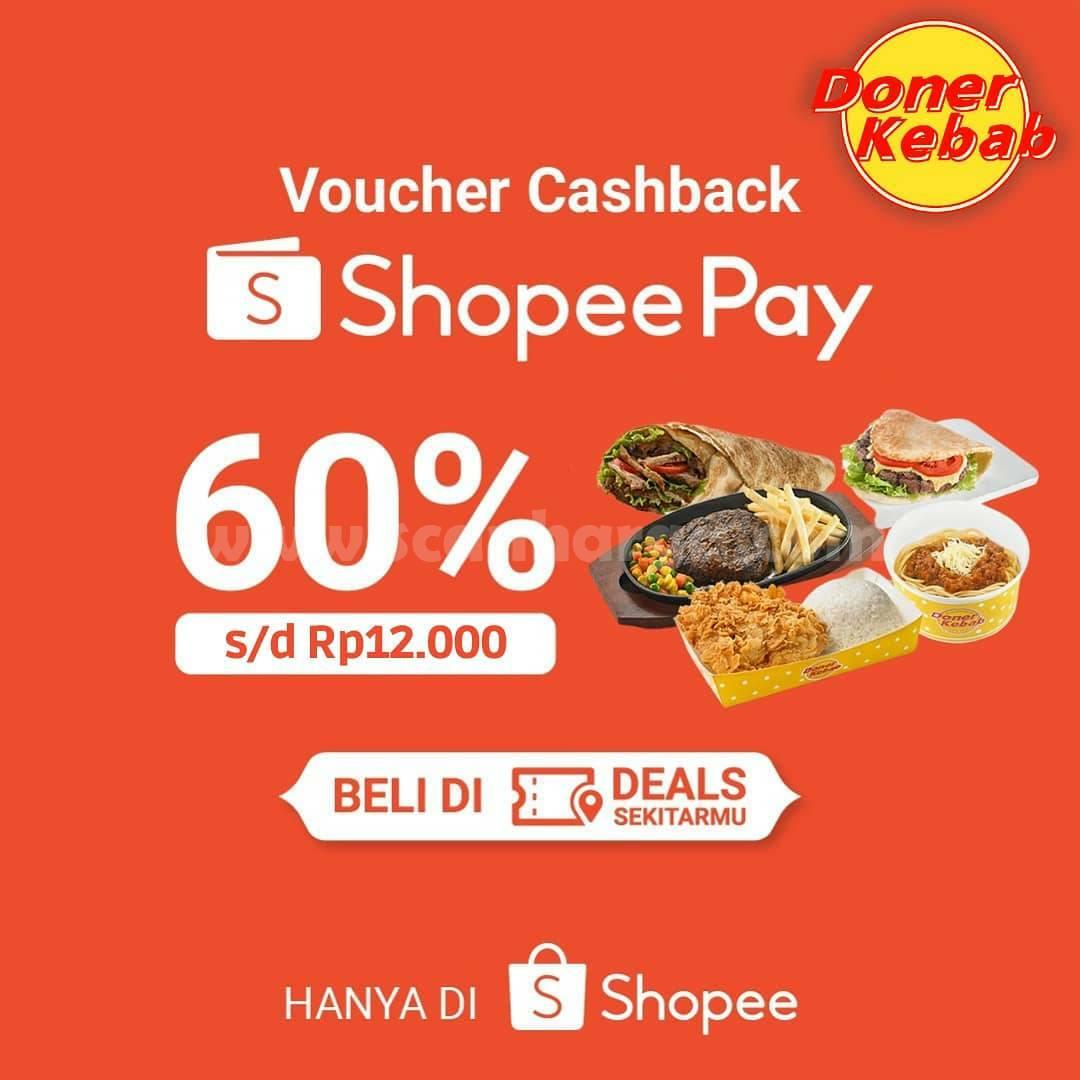 DONER KEBAB Promo ShopeePay! Dapatkan Voucher Cashback 60%
