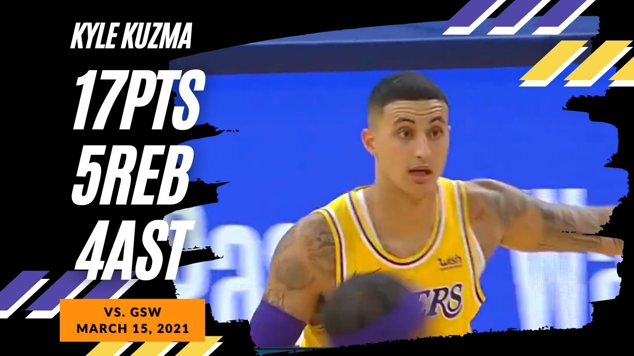 Kyle Kuzma 17pts 5reb 4ast vs GSW | March 15, 2021 | 2020-21 NBA Season