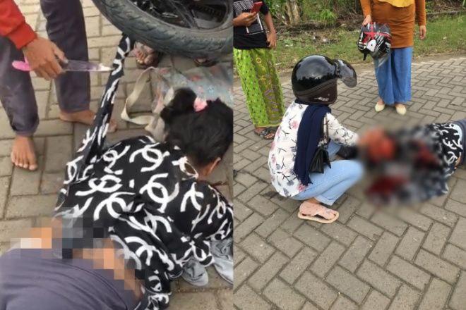 Nyaris Tewas, Ibu di Bone Terjungkal ke Aspal Gegara Baju Terlilit Rantai