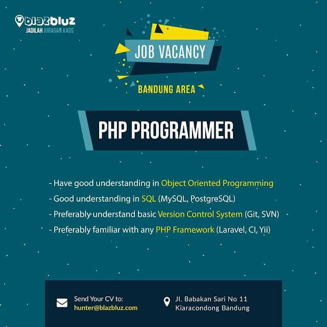 Lowongan Kerja PHP Programmer