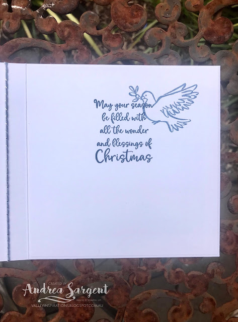 Dove of Hope Christmas Stampin Up card, Andrea Sargent, Independent Stampin' Up! Demonstrator, South Australia, Australia