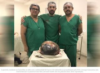 Cisto de 20 quilos é retirado do ovário de paciente em Hospital de Santa Rita