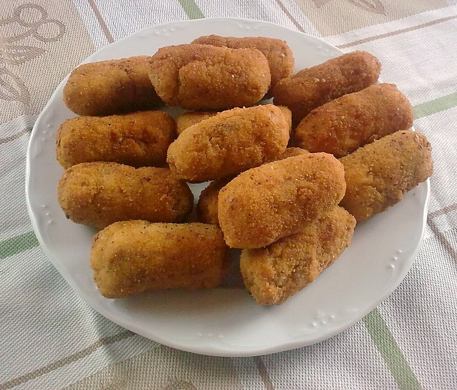 Croquetas con Tropezones de Chorizo Vegano