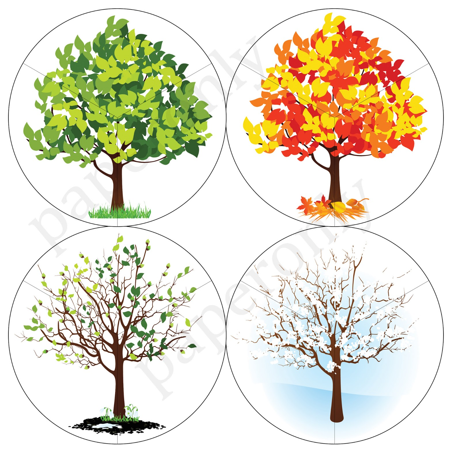 Printables Seasons Puzzle For Kids