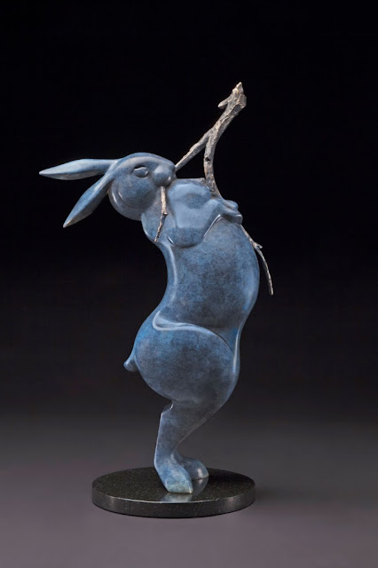 "by Tim Cherry, ""Willow Snipper"" - bronze  