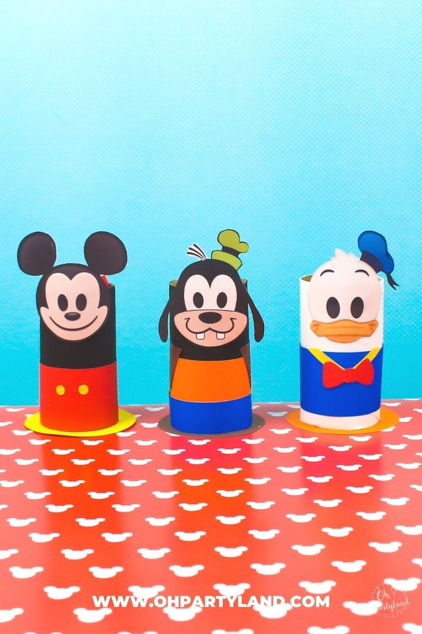 Toilet Paper Roll Mickey Mouse Clubhouse - Crafts for kids
