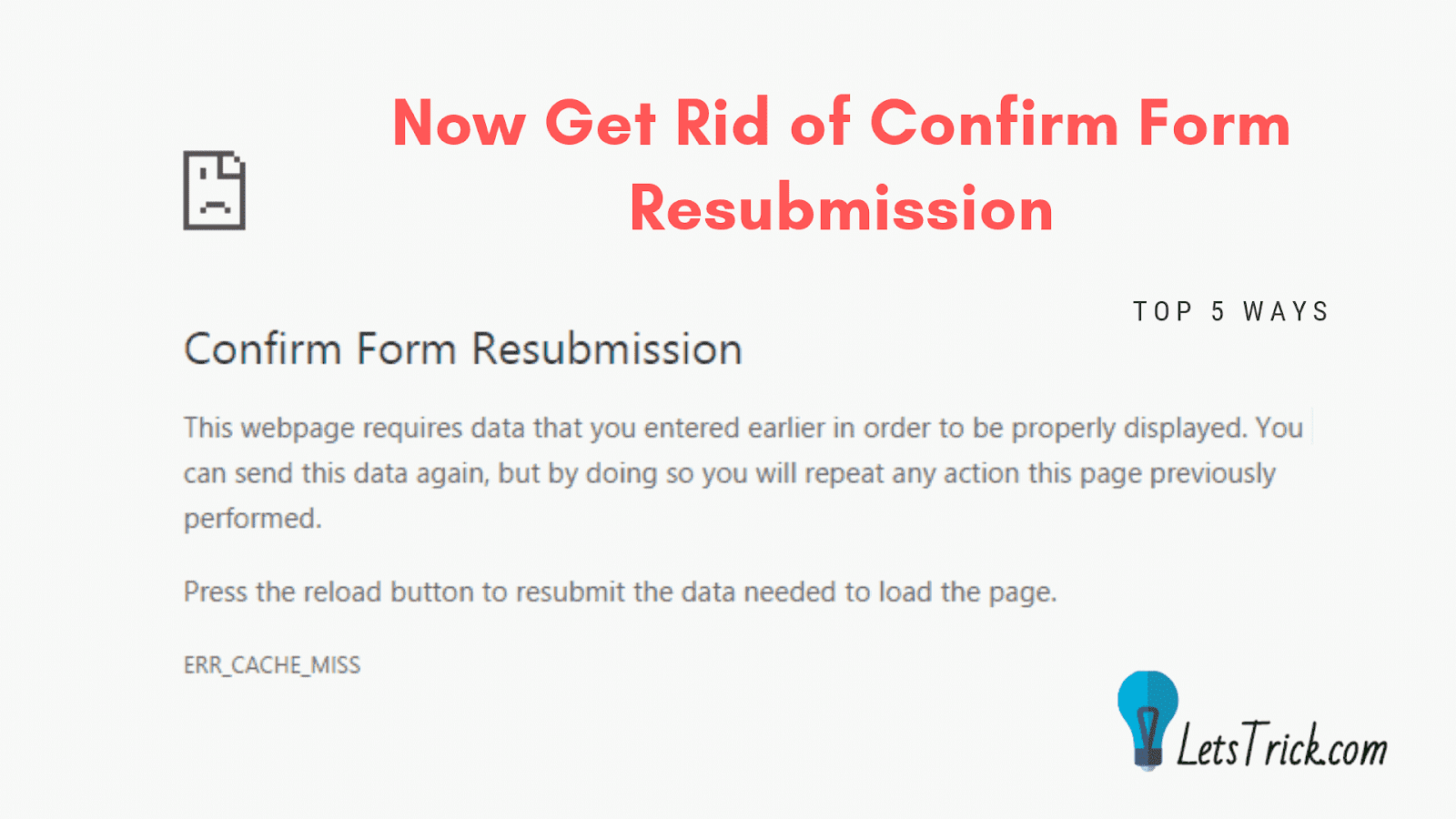 Confirm Form Resubmission 2019