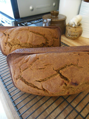Honey Sweetened Whole Grain Pumpkin Bread.