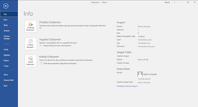Menu Bar File Microsoft Word