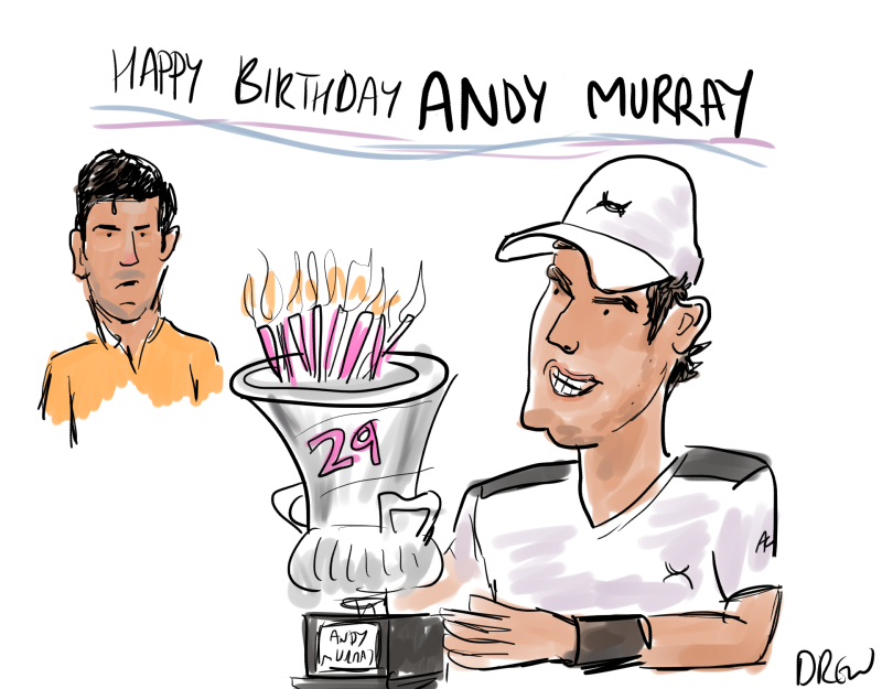 Cartoons I Drew Andy Murray S French Open 2016
