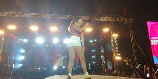 Show de Anitta no crato é interrompido após queda de parte da estrutura do palco