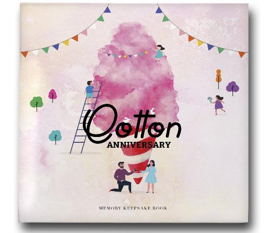 cotton anniversary photo album