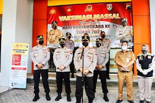Kapolda Jateng Tinjau Vaksinasi Dan Launching E-OFFICE Di Magelang