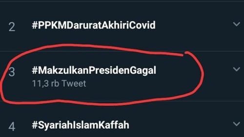 'Makzulkan Presiden Gagal' Trending, Netizen Beda Pendapat: Emang Kalau Jokowi Mundur, Kondisi Jadi Lebih Baik?