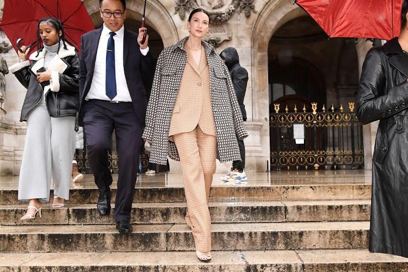 Caitriona Balfe Leaves Stella McCartney Show at Paris Fashion Week 2 Mar-2020