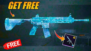 How to get free upgraded M416 glacier skin,  get free m416 skin