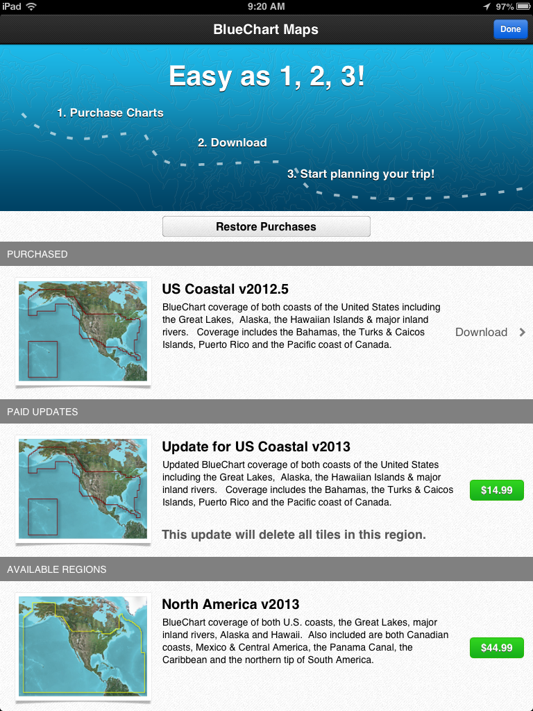 i-Marine Apps: Garmin BlueChart Mobile Chart Updates