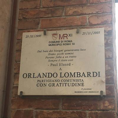 Garbatella targa Orlando Lombardi