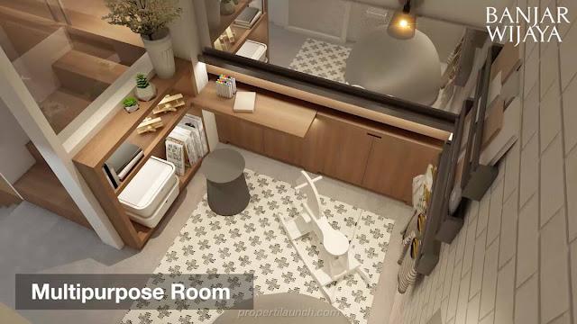 Multi Purpose Room Rumah Infini Hauz Banjar Wijaya