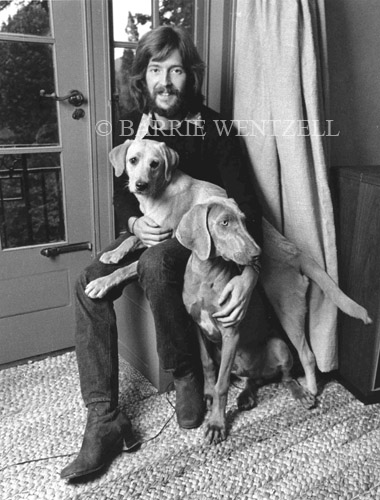 Eric Clapton and his dogs