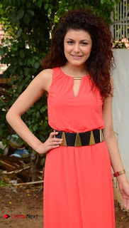 Actress Sha Jaswal Pictures in Red Dress at 9A Krishnalanka Movie Opening  0009.jpg