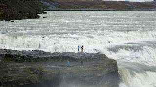 People at the Edge of GULLFOSS