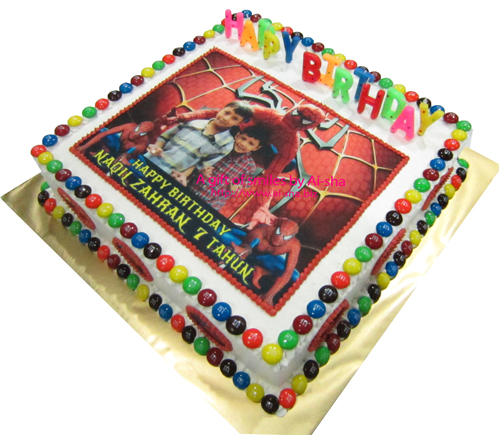 Birthday Cake Edible Image Spiderman Ai-sha Puchong Jaya