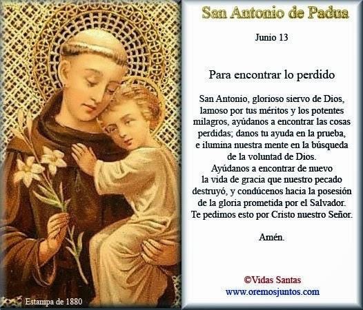 Oración a San Antonio para encontrar cosas perdidas