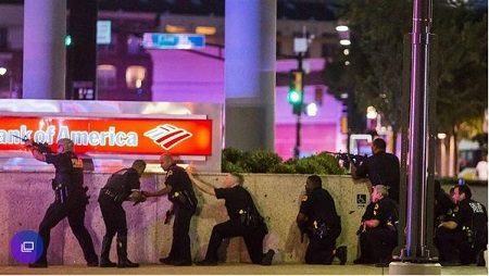 Five Police Officers Shot Dead During Protest in United States as Blacks Fight Back (Photos)