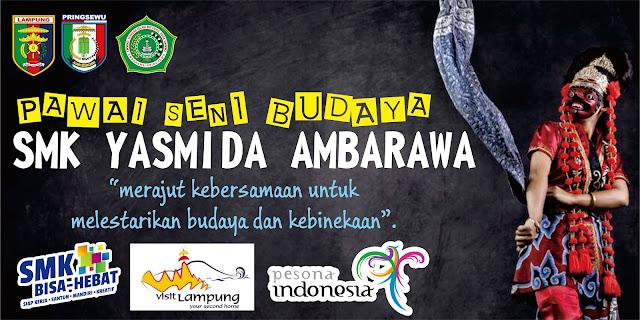 Desain Banner Pawai Budaya Provinsi Lampung