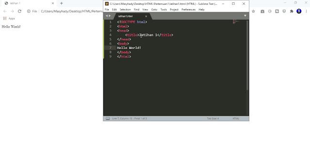 contoh struktur HTML