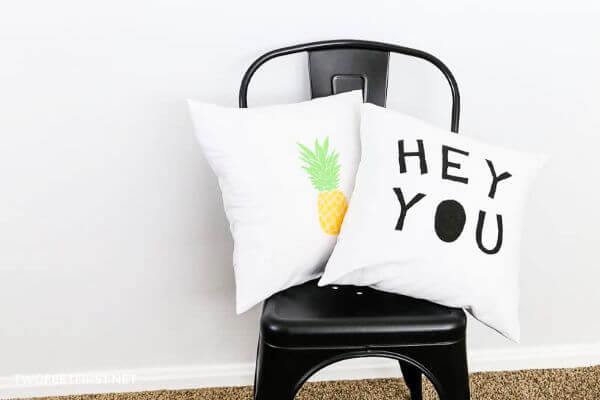 stenciled pillow covers to make