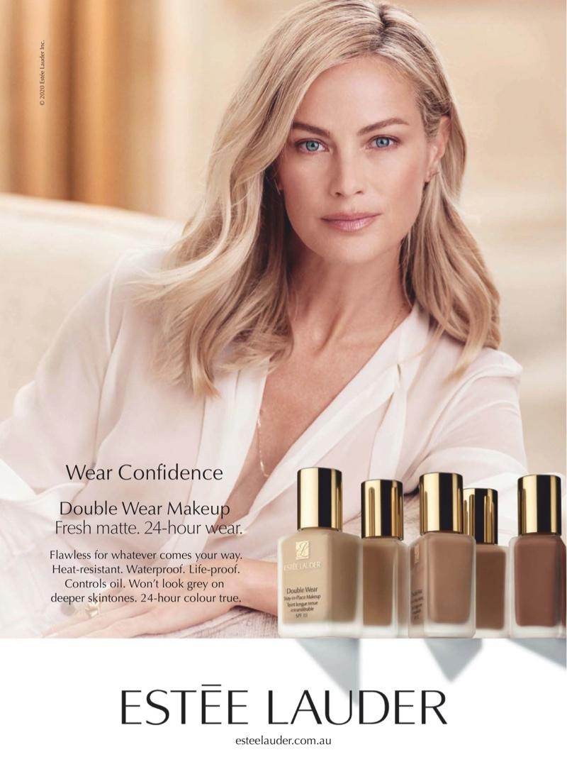 Carolyn Murphy appears in Estee Lauder Double Wear foundation 2020 campaign