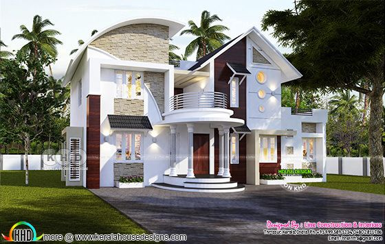 Super awesome Modern Kerala home design 2633 sq-ft