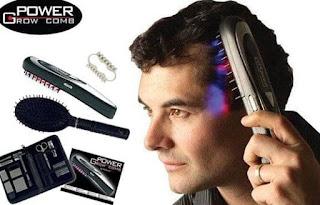 Power Grow Comb Sisir Laser Mengatasi Rambut Rontok Dan Botak