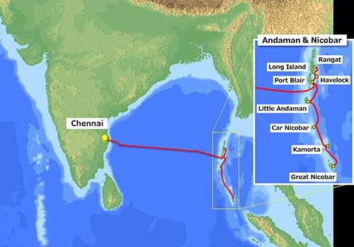 NEC completa sistema de cabo submarino para a BSNL, ligando Chennai, Índia e as Ilhas Andaman & Nicobar