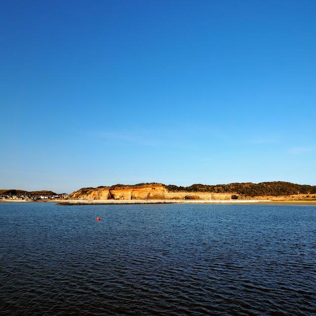 銚子マリーナ名洗港海浜公園から見る東洋のドーバー・屏風ヶ浦