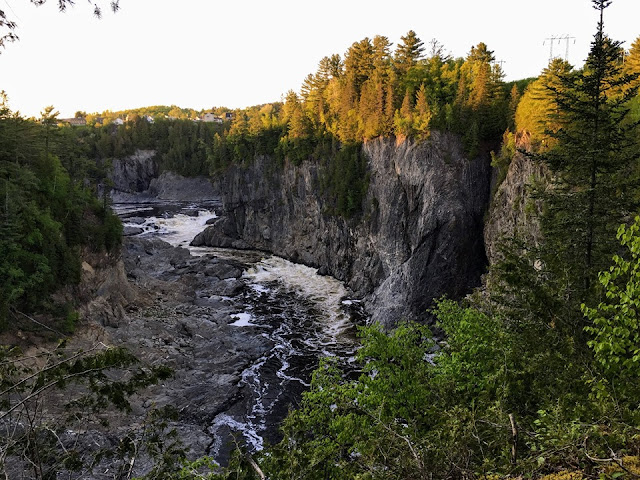 Falls and Gorge Campground, tiny trailer campground, New Brunswick