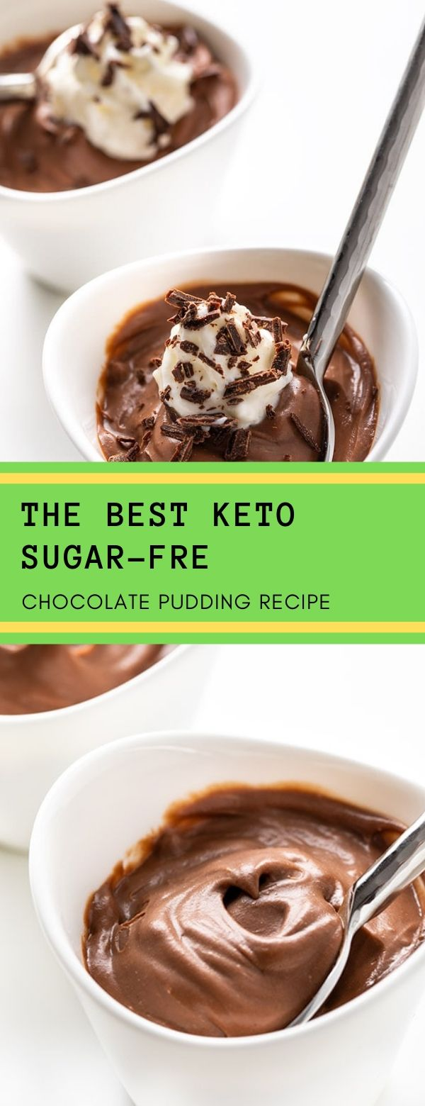 THE BEST KETO SUGAR-FREE CHOCOLATE PUDDING RECIPE