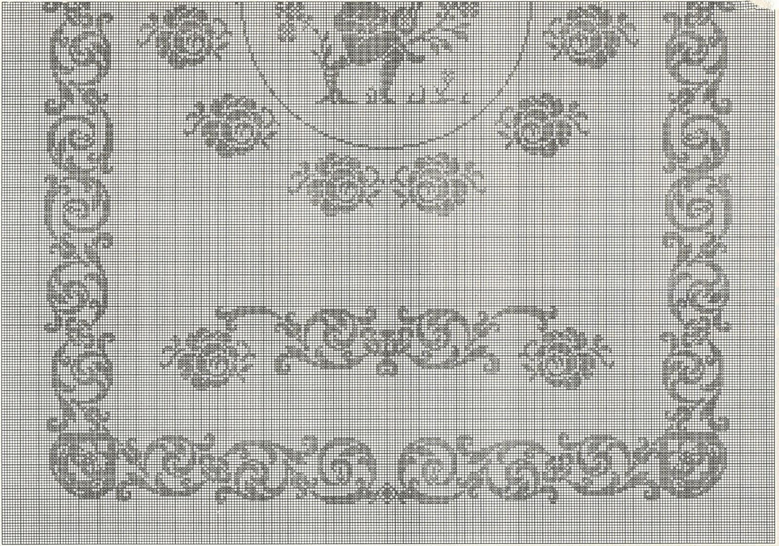 Popolare Professione Donna: Schemi per il filet: Copertina per lettino con  OX57