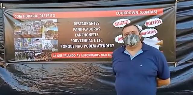 """Manoel Ribas: """"Já que falando as autoridades não entendem, resolvemos desenhar"""""""