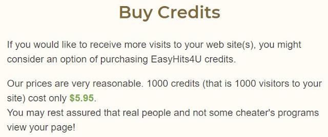 easyhits4u buy credits to get traffic