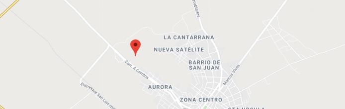 Mapa de Cerritos SLP