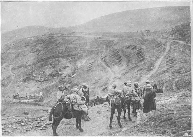 Battle of 19 March 1917 north of Bitola (Monastir).  Organization of positions