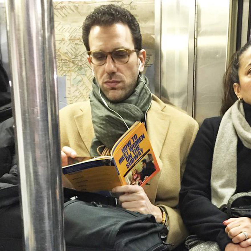 17 Hilarious Pictures Of People Reading All The Wrong Books In Public - The One Book You Should Never Read On The Subway, Unless You Never Want To Meet Any Women