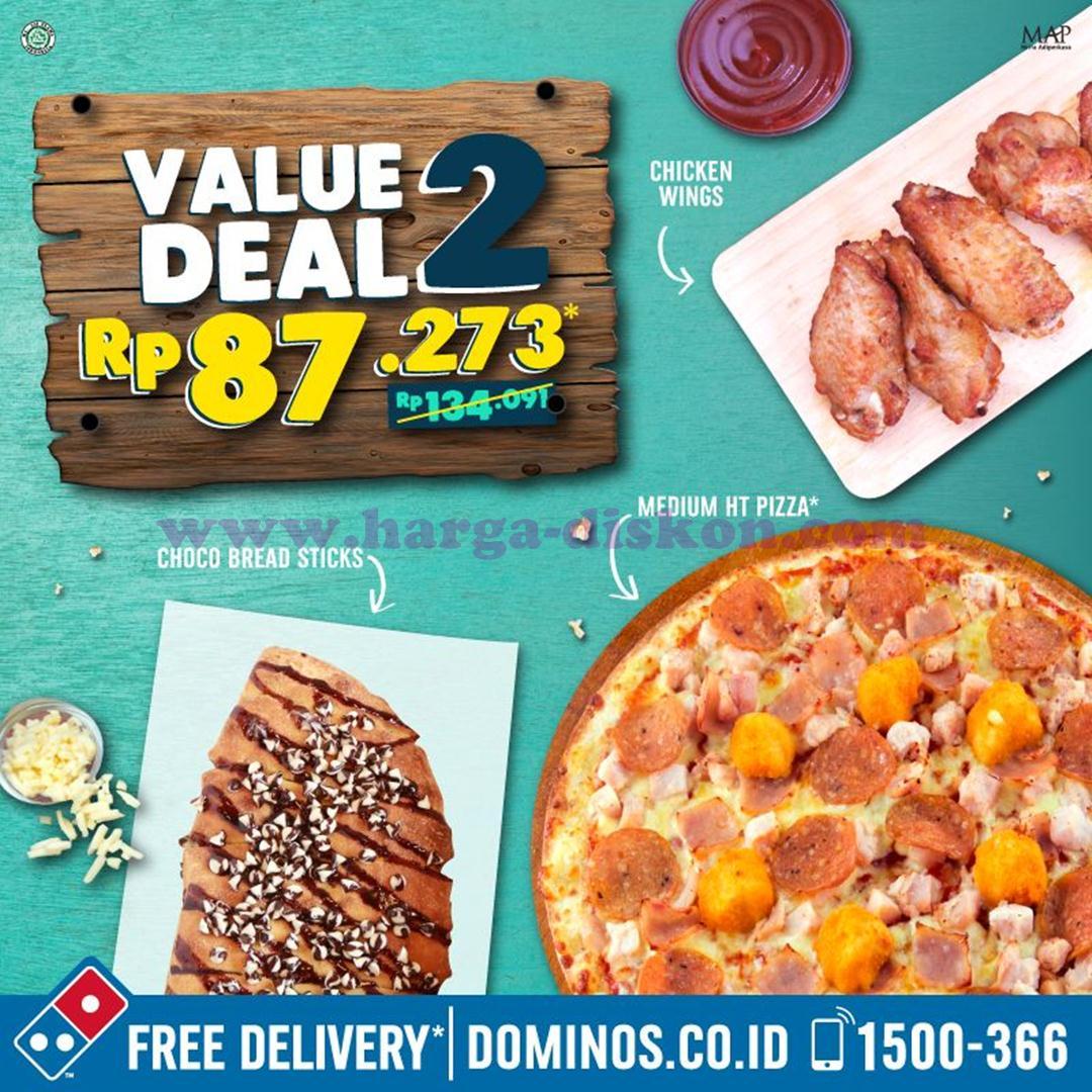 Promo DOMINOS PIZZA Terbaru VALUE DEAL Mulai Rp65455