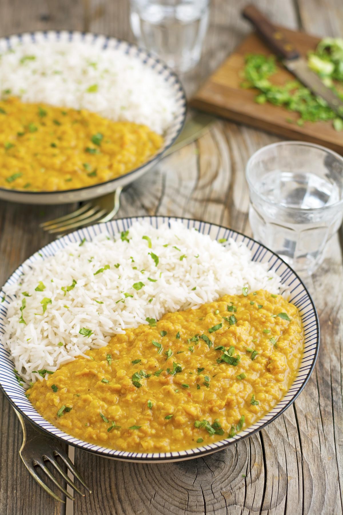 (Vegan) Crock-Pot Curried Red Lentils