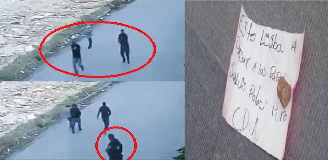 Video: Por la espalda y a traición Sicarios hasta abrazados de El CDN cobardemente ejecutan a policía en vía publica mientras hacia rondín en la plaza