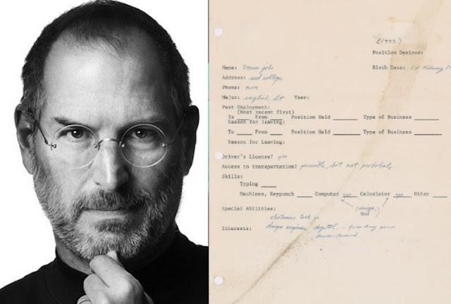 2.5 करोड़ रुपये में नीलाम हुआ स्टीव जॉब्स का आवेदन पत्र