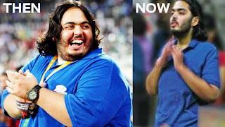 mukesh ambani son weight lost pic
